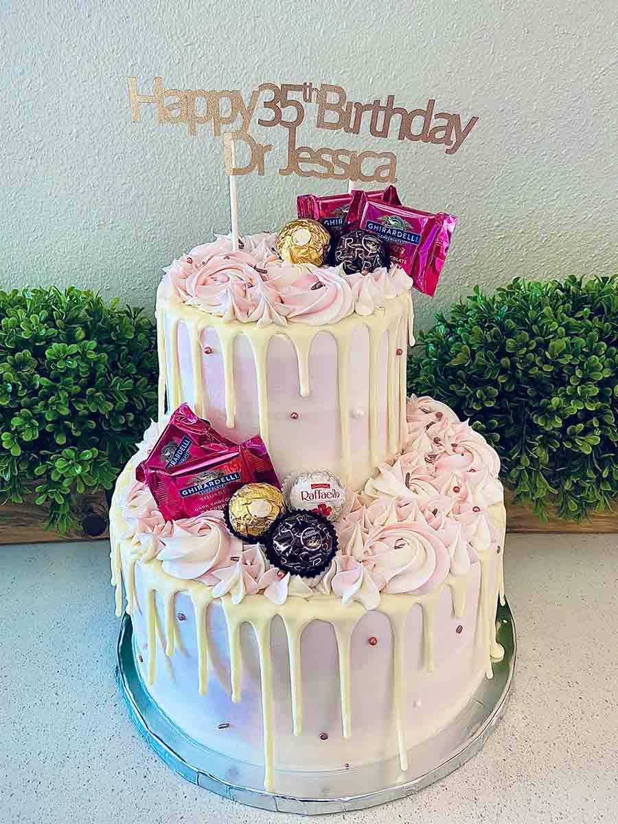 Custom tier cake